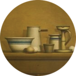 William Bailey - Still Life with Eggs, Candlestick and Bowl, from the portfolio American: The Third Century